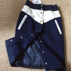 Nike Sacai WindRunner Skirt XS X-Small  Nike X Sacai Navy w/ white leather NEW…