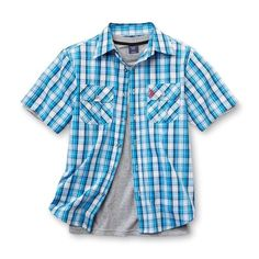 NWT Big Boys US Polo Assn. Shirt & T-Shirt - Plaid -2 Pc. Set - Large (14/16) #USPoloAssn #Everyday