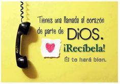 Tienes una llamada al corazón de parte de Dios.  Recíbela!!  El te hará bien.