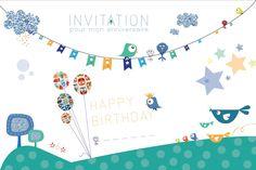carte invitation anniversaire : Invitation carte anniversaire - Carte Anniversaire - Carte Anniversaire