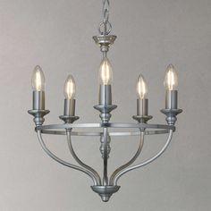 BuyJohn Lewis Bailey Chandelier Ceiling Light, 5 Arm, Galvanised Online at johnlewis.com