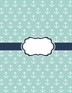 free binder cover printables set anchor pattern onedrive