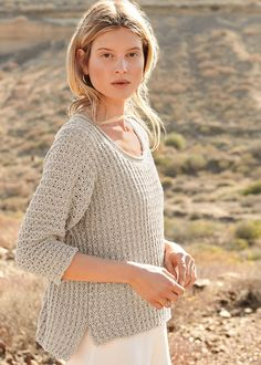 Lana Grossa PULLOVER Alta Moda Cotolana - CLASSICI No. 18 - Knitting instructions (EN) - Design 27 | FILATI Online Shop