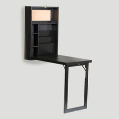 Black Alden Foldout Convertible Desk #Convertible #CostPlus #LynnFriedman #Furniture #Desk #SmallSpaces
