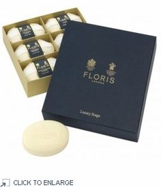 Floris Luxury Soap Collection, Set of 6 - includes one each of Edwardian Bouquet, Fleur, Lily of the Valley, Night Scented Jasmine, Seringa and White Rose - #fragance #soap collection for a luxurious experience