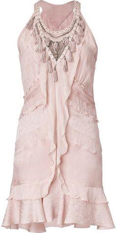 Roberto Cavalli Embellished Fringe Dress on shopstyle.co.uk