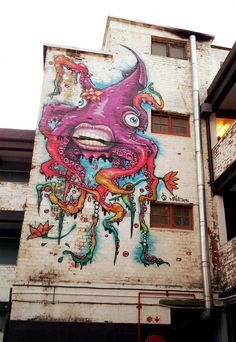 Artist: Mike Makatron Art Location: WoodstockPhoto: Street Art in Cape Town