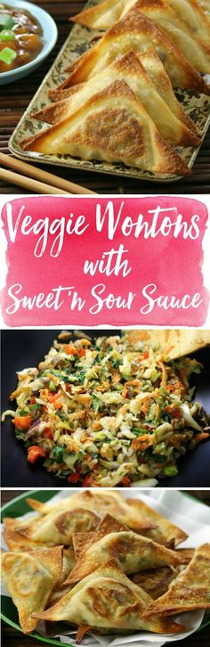 Delicious won tons, baked crisp and meatless! You won't believe how fast they disappear. Veganize with won ton wrappers found in Asian markets and vegan-friendly stores. won ton wrapper recipes healthy chinese vegetarian vegan healthy appetiz Vegetarian Recipes, Cooking Recipes, Healthy Recipes, Dishes Recipes, Eat Healthy, Vegetarian Lunch, Veggie Dishes, Sauce Recipes, Microwave Recipes