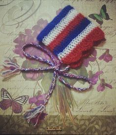 Crocheted newborn pixie bonnet/beanie