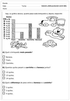 Atividades de Matemática 2º ano - Quilos Study Tips, Second Grade, Literacy, Math Equations, Education, Ariel, Texts, Math Worksheets, Math Assessment