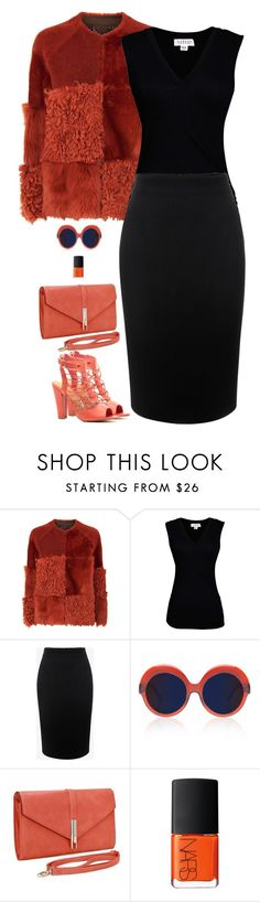 """Untitled #5733"" by miki006 ❤ liked on Polyvore featuring Whistles, Velvet by Graham & Spencer, Alexander McQueen, Cutler and Gross and NARS Cosmetics"