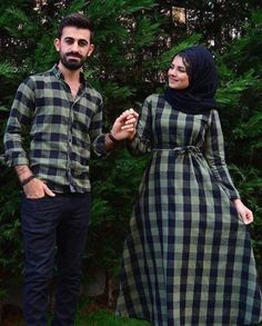 for this Tailer fit designer wear Bridal Hijab Styles, Bridal Mehndi Dresses, Hijab Wedding Dresses, Pakistani Dresses, Muslim Women Fashion, Modern Hijab Fashion, Matching Couple Outfits, Matching Couples, Cute Muslim Couples