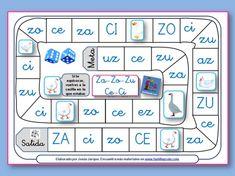 Juegos de la oca para leer sílabas y palabras