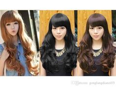 Free shipping, $11.42/Piece:buy wholesale Fluffy Womens Girls Long Wavy Curly with Fringe Hair Full Wigs Fashion 4 Colors from DHgate.com,get worldwide delivery and buyer protection service.
