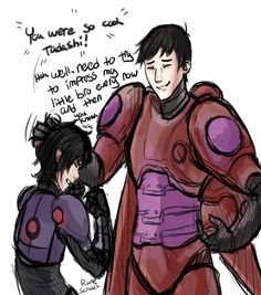 """runescratch: """" I think about Tadashi in Baymax's armor a lot and the """"what if"""" scenario of if he was the one there protecting Hiro instead, with his motivation to fight simply being """"well my brother. Disney And Dreamworks, Disney Pixar, Disney Magic, Disney Art, Disney Characters, Fictional Characters, Big Hero 6, Disney Gender Swap, Hero 6 Movie"""