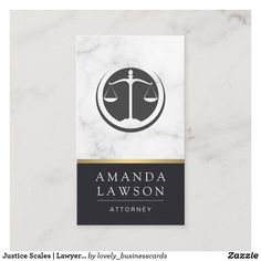 Justice Scales | Lawyer | Law Appointment Card