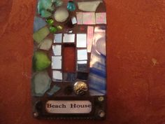 MOSAIC SWITCH Plate - bEACH House. $18.00, via Etsy.