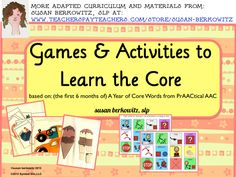 Teach AAC learners the beginning core vocabulary with these real life activity simulations. Words match PrAACticalAAC's Year of Core Words Jan-June