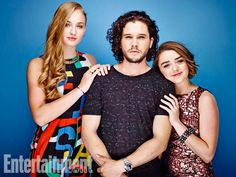Sophie Turner, Kit Harington, Maisie Williams, Game of Thrones. See more stunning star portraits from our photo studio at San Diego Comic-Con 2014 here: www.ew.com/...
