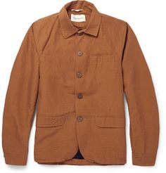 Oliver Spencer Cotton and Linen-Blend Shirt Jacket
