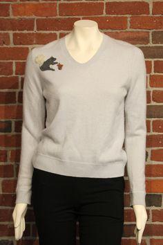 Lavender Squirrel Cashmere Sweater, M
