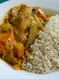 Massaman Vegetarian Curry with brown rice