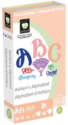 Amazon.com: Cricut Cartridge, Ashlyn's Alphabet: Arts, Crafts & Sewing