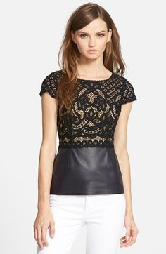 Bailey 44 'Daffodil' Cap Sleeve Lace Top available at #Nordstrom
