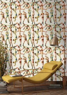 This spectacular The Acrobats Wallpaper by designer MINDTHEGAP features an exciting acrobatic spectacle that brings walls to life. Get a new fresh feeling on your walls.