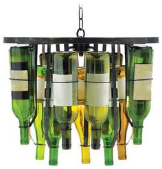 Collectors Two-Light Bottle Chandelier - eclectic - Chandeliers - Bellacor