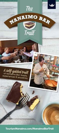 Trip down the Nanaimo Bar Trail by treating yourself to a decadent self-guided tour featuring our city's world-famous dessert - the Nanaimo Bar. Easy No Bake Cheesecake, Cheesecake Bars, Cheesecake Recipes, Famous Desserts, Nanaimo Bars, Canadian Food, Vancouver Island, Mint Chocolate, Food 52