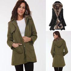 Awesome 2017 Womens Thicken Warm Winter Coat Hood Parka Overcoat Long Jacket Outwear 2017-2018