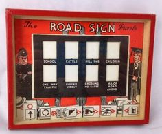 Vtg Road Sign Puzzle Game Hand Held Dexterity R Journet & Co London