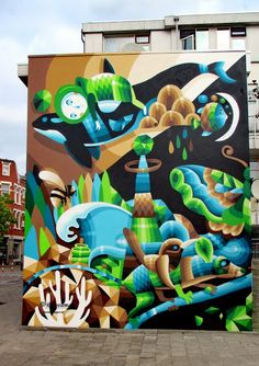 Wall paints, Muurschilderingen, Peintures Murales,Trompe-l'oeil, Graffiti, Murals, Street art.: Rotterdam - Netherlands Eelco van den Berg