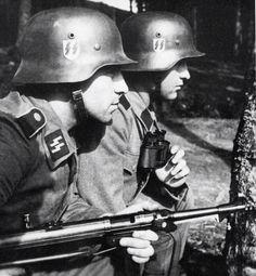 """Schutzstaffel (SS; also stylized as Runic """"ᛋᛋ"""" with Armanen runes; German pronunciation: [ˈʃʊtsˌʃtafəl]"""