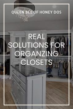 Tips and tricks to organizing a closet to get the best use of space. More efficient and space saving techniques! #closets #organizing #housekeeping #storage #solutions Make A Closet, How To Organize Your Closet, Tiny Closet, Small Closets, Closet Space, Storage Solutions, Storage Ideas, Closet Organization, Organizing