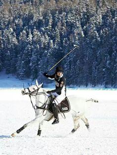 Snow polo in St Moritz
