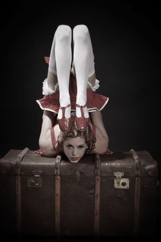 contortion back bend with ruby slippers
