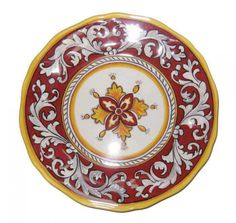 MELAMINE DINNERWARE: MALAGA RED COLLECTION from Cote Sud. #plate #entertain #table #pattern #dishes