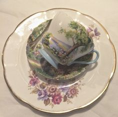 Vintage Tea Cups Saucers and Dessert Plates TEA by footbridgecove1,CUSTOME ORDERS AVAILABLE, Tea Sets...NEW LISTING