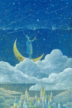 "victoriousvocabulary: "" SUPRANUBILAR [adjective] above the clouds; beyond the clouds. Etymology: from Latin supra, ""above"" + nubes, ""cloud"". [Toshio Ebine - Starry Umbrella] """