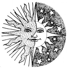 sun and moon coloring pages bing images - Detailed Coloring Pages