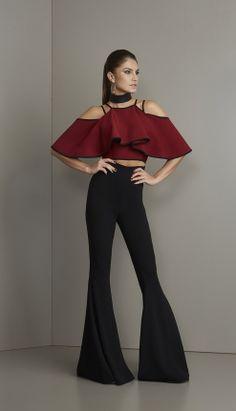 MACACÃO BABADOS OMBROS - MAC18341-A4 | Skazi, Moda feminina, roupa casual, vestidos, saias, mulher moderna