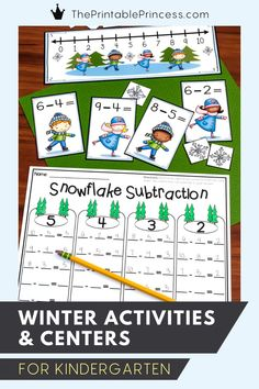 This packet of winter activities includes literacy and math centers as well as no prep activities. The skills included are perfect for Kindergarteners during the month of January or all winter long!