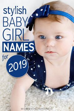 The Most Stylish Baby Girl Names You've Ever Heard (+ meanings!) If you're looking for girl baby names that are stylish, we've got a list of over sixty ideas for new moms and dads. From common to uncommon, we're sure you'll find something you love! Simple Girl Names, Unusual Baby Girl Names, Girls Names Vintage, Baby Girl Names Unique, Middle Names For Girls, Beautiful Girl Names, Rare Baby Names, Popular Baby Names, Unique Baby