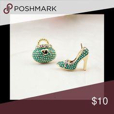 18 k gold plated bag heel earrings 18 k gold plated bag heel earrings Jewelry Earrings