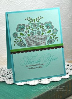 Beautiful Blessings Card by Dawn McVey for Papertrey Ink (August 2013)