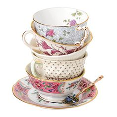 miss match tea cups (I could probably get these from the thrift store)