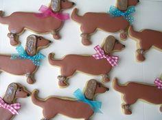 Dachshund puppies sugar cookies $34.95