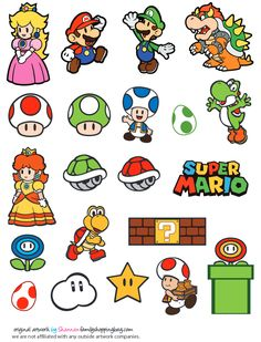 Mario Printable Coloring Pages, Invitations & Super Mario Bros, Super Mario Birthday, Mario Birthday Party, Super Mario Party, Super Mario World, Super Mario Brothers, Super Mario Nintendo, Nintendo Tattoo, Mario E Luigi